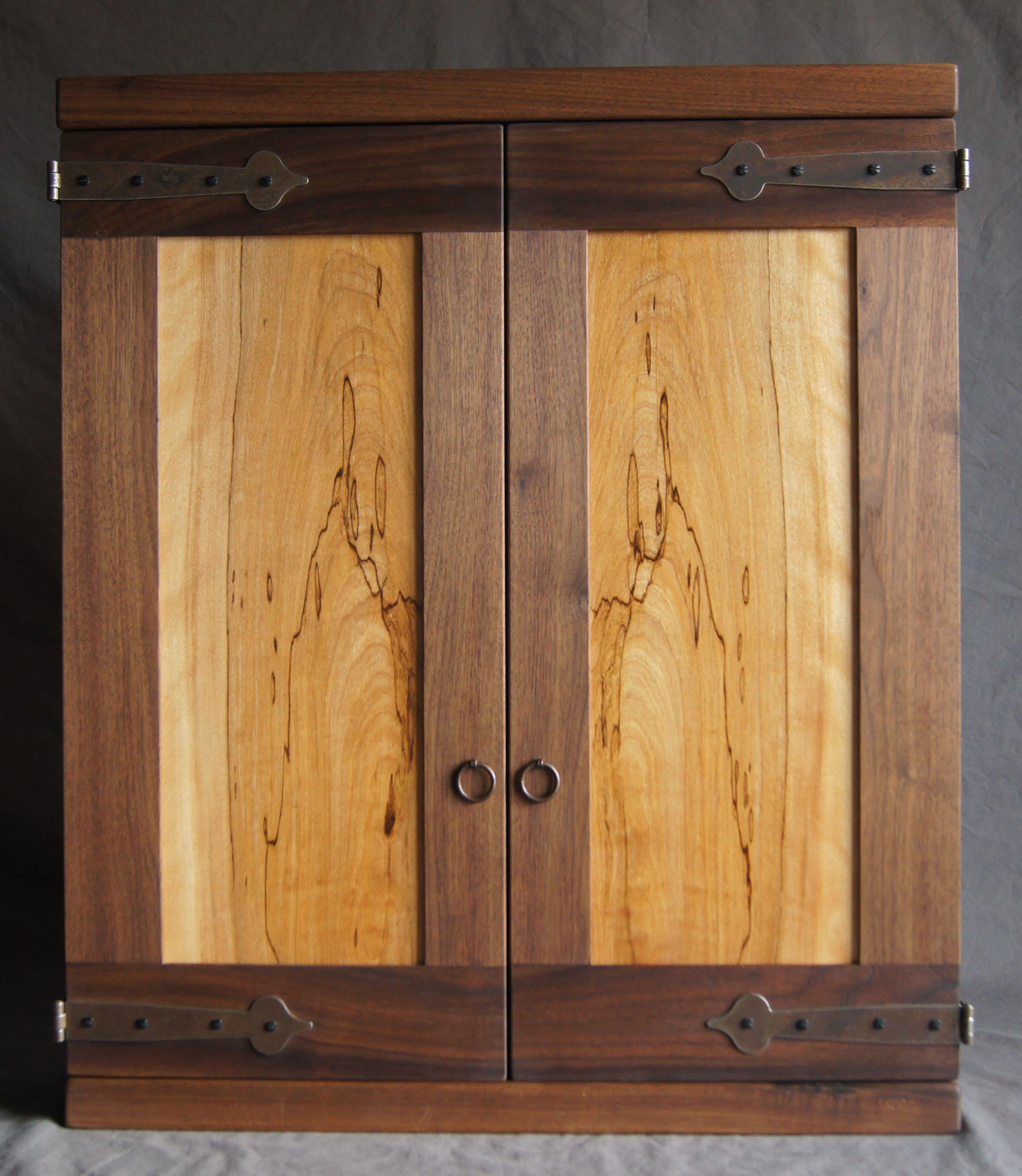 Walnut Dartboard Cabinet